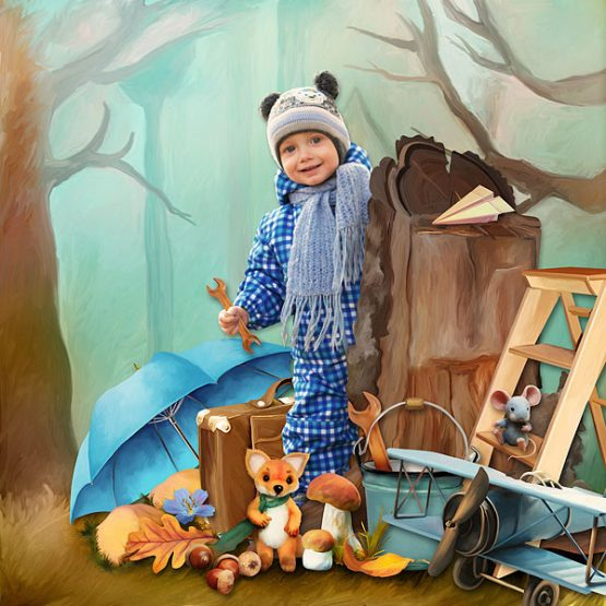 Fall Fox and Friend Layout 06