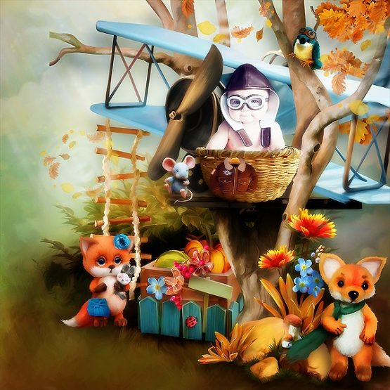 Fall Fox and Friend Layout 08