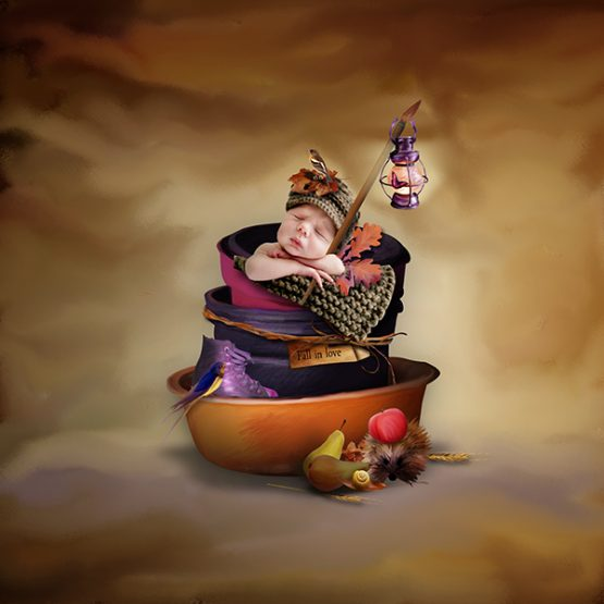 Funny Autumn Hedgehogs Layout 08