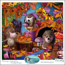 Funny Autumn Hedgehogs Preview