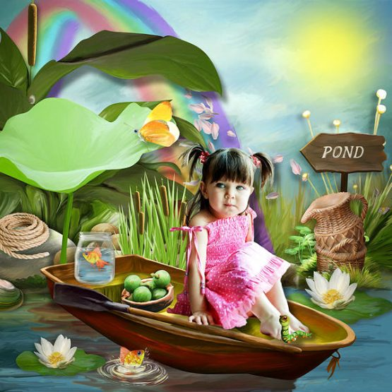 Tea Party at the Pond Layout 05