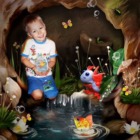 Tea Party at the Pond Layout 07